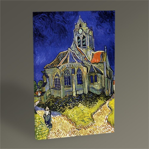 Tablo 360 Vincent Van Gogh-The Church At Auvers 45X30