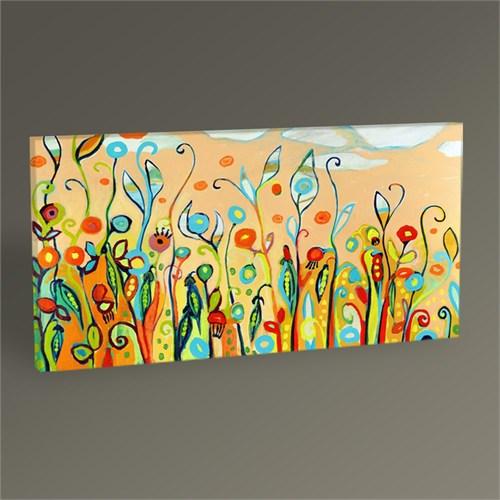 Tablo 360 Rengarenk Çiçekler Tablo 60X30