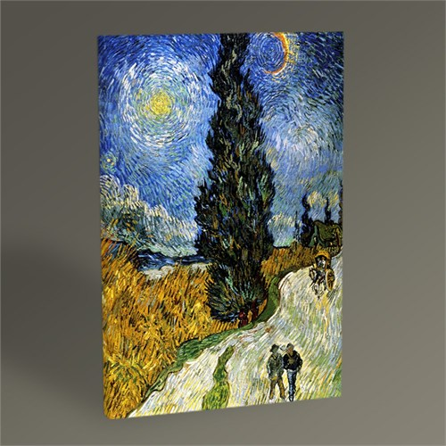 Tablo 360 Vincent Van Gogh-Country Road İn Provence By Night 45X30