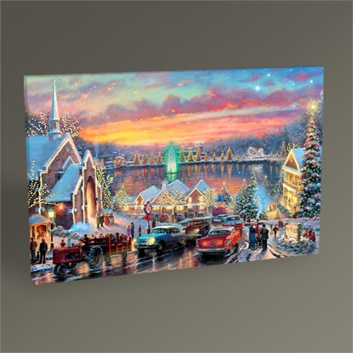 Tablo 360 Şehirde Noel Tablo 45X30