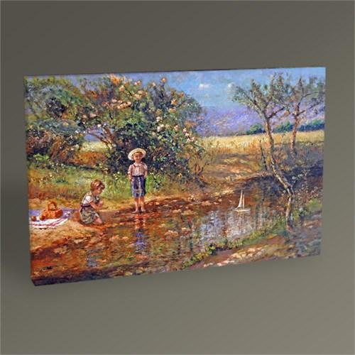 Tablo 360 Göl Kenarında Çocuklar Tablo 45X30