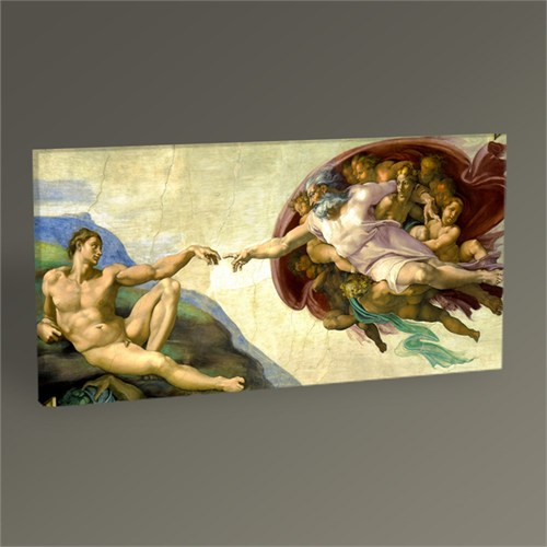 Tablo 360 Michelangelo The Creation Of Adam-Tablo 60X30