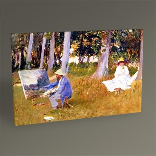 Tablo 360 John Singer Sargent Claude Monet Painting-Tablo 45X30