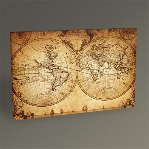 Tablo 360 Eski Dünya Haritası Tablo 45X30
