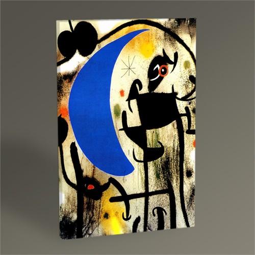 Tablo 360 Joan Miro Kadın, Kuş Ve Gece 45X30