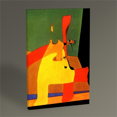 Tablo 360 Joan Miro Boşluktaki Alev Ve Çıplak Kadın 45X30