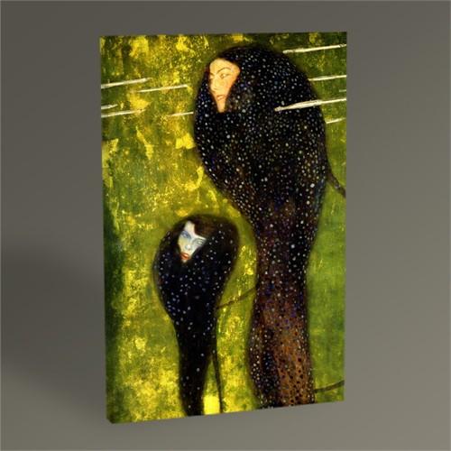 Tablo 360 Gustav Klimt Nymphs Tablo 45X30