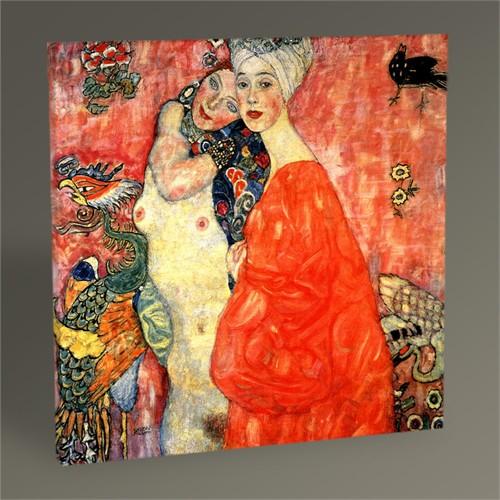 Tablo 360 Gustav Klimt The Girl-Friends Tablo 30X30