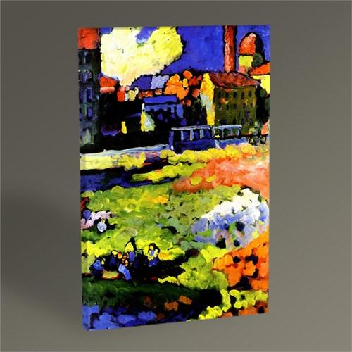 Tablo 360 Wassily Kandinsky Munich-Schwabing With The Church Of St. Ursula 45X30