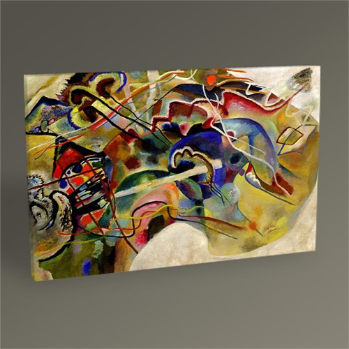 Tablo 360 Wassily Kandinsky Picture With A White Border 45X30