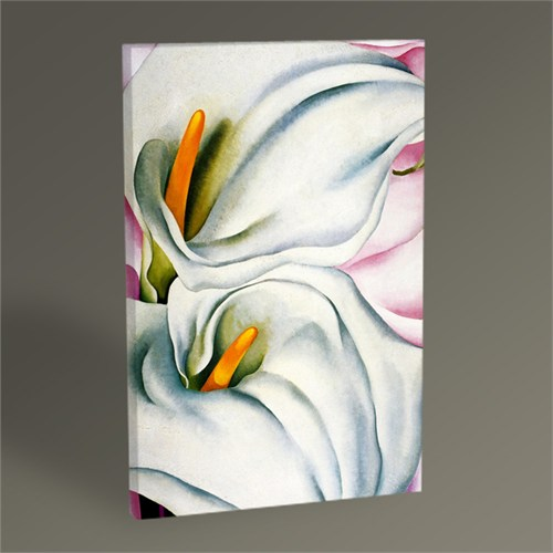 Tablo 360 Georgia O'keeffe Two Calla Lilies On Pink 45X30