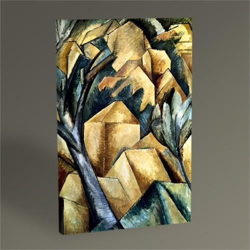 Tablo 360 Georges Braque Houses İn L'estaque 45X30