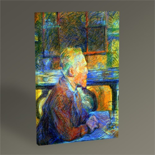Tablo 360 Henri De Toulouse-Lautrec Portrait Of Vincent Van Gogh 45X30