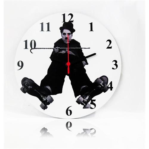 Köstebek Charlie Chaplin Ahşap Duvar Saati