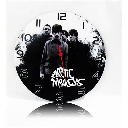 Köstebek Arctic Monkeys Resimli Duvar Saati Ahşap Duvar Saati