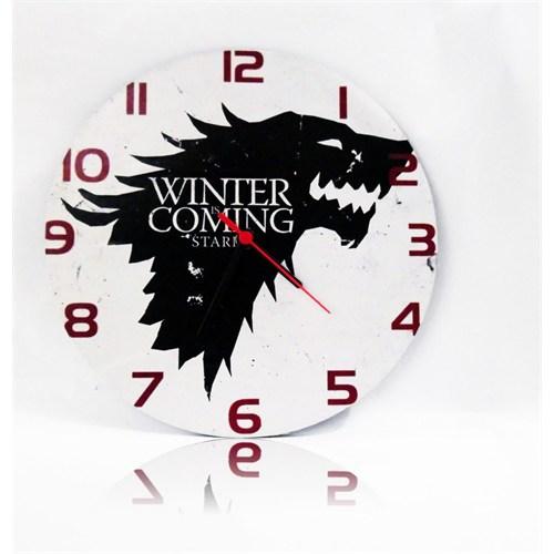 Köstebek Game Of Thrones - Stark - Winter İs Coming Ahşap Duvar Saati