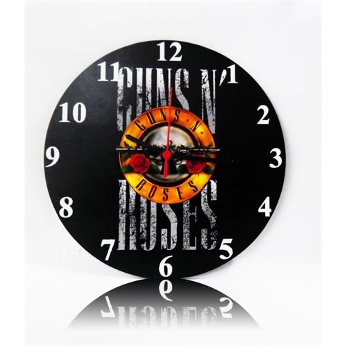 Köstebek Guns N Roses Ahşap Duvar Saati