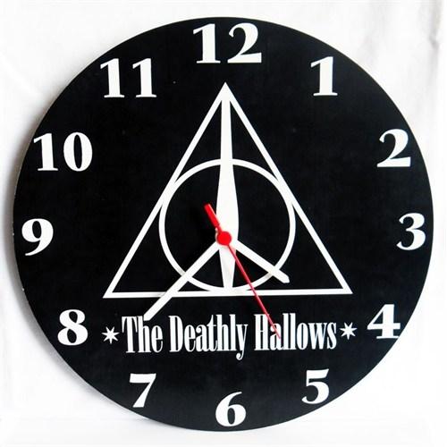 Köstebek Harry Potter - The Deathly Hallows Duvar Saati Ahşap Duvar Saati