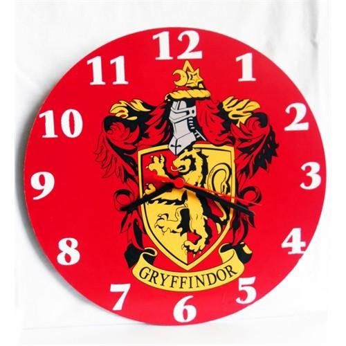 Köstebek Harry Potter Gryffindor Duvar Saati Ahşap Duvar Saati