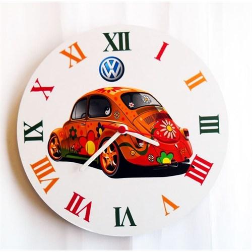Köstebek Volkswagen Beetle Duvar Saati Ahşap Duvar Saati