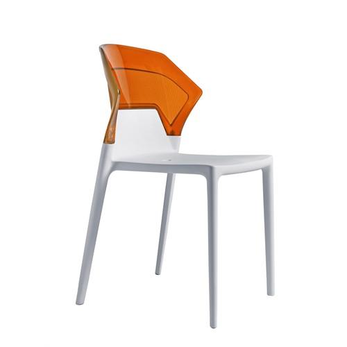 Papatya Ego Sandalye Turuncu Beyaz