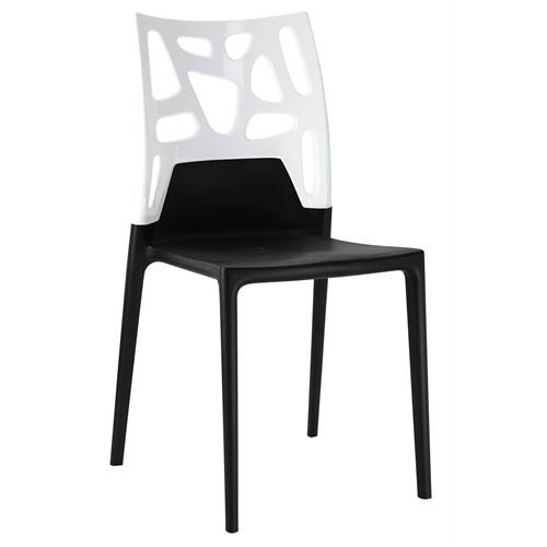 Papatya Ego Rock Sandalye Siyah Beyaz