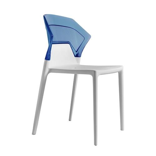 Papatya Ego Sandalye Beyaz Mavi