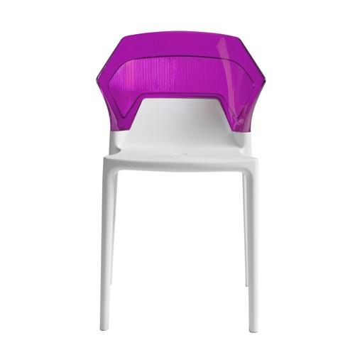 Papatya Ego Sandalye Mor Beyaz