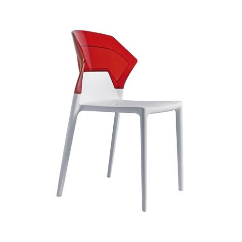 Papatya Ego Sandalye Kırmızı Beyaz