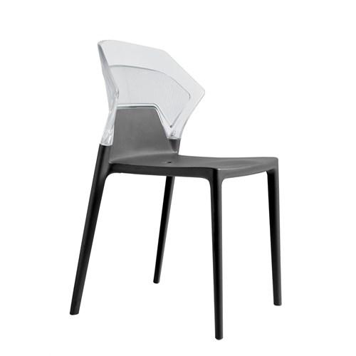 Papatya Ego Sandalye Beyaz Siyah