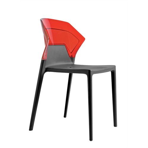 Papatya Ego Sandalye Kırmızı Siyah