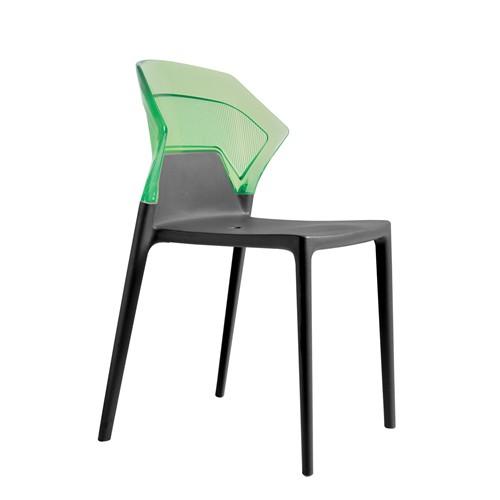 Papatya Ego Sandalye Yeşil Siyah