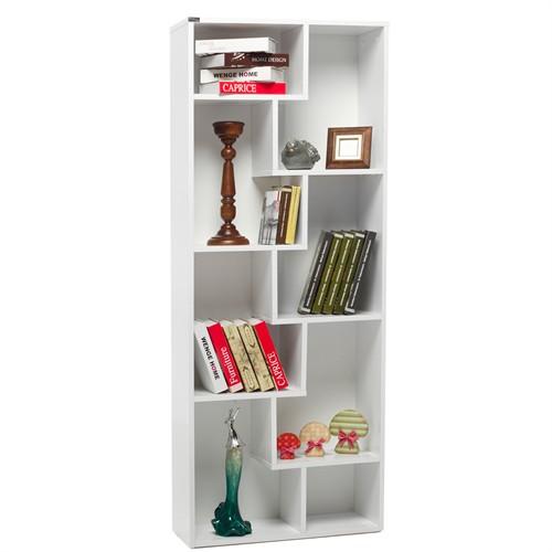 Evdebiz Zigzag Kitaplık Beyaz-Beyaz