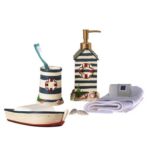 Bosphorus Balıkcı Evi 3 Lü Banyo Seti Poliresin