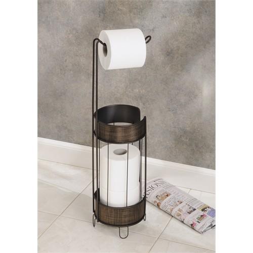 Bosphorus Tuvalet Kağıdı Standı Yedeklikli Bronz Kahverengi Paslanmaz Çelik 17,7X17,7X60,9 Cm