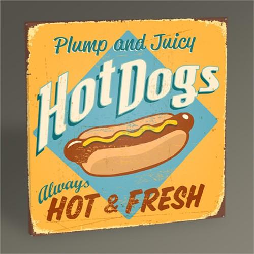 Tablo 360 Hot Dogs Tablo 30X30
