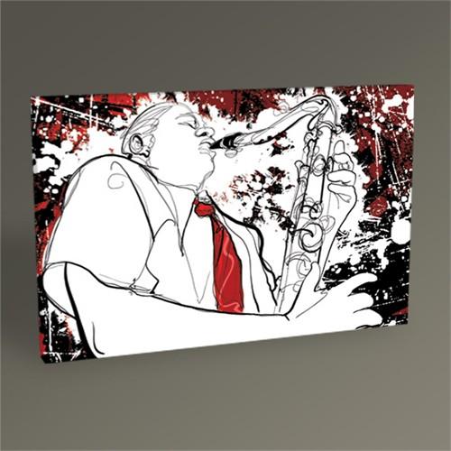 Tablo 360 Saksafon Sanatçısı Iı Tablo 45X30