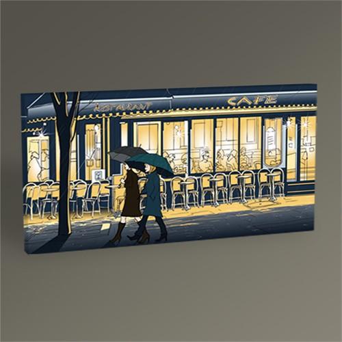 Tablo 360 Paris'te Bir Kafe Tablo 60X30