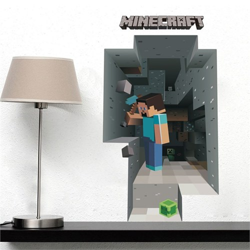 Modakedi Minecraft Steve 3D Duvar Sticker Çıkartma