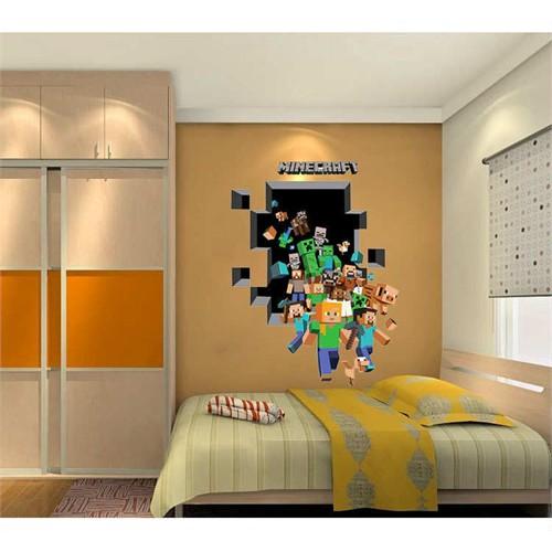 Modakedi Minecraft Kahramanları 3D Duvar Sticker Çıkartma