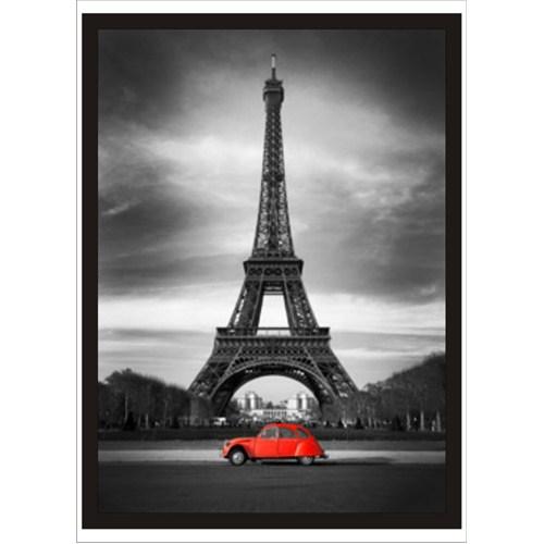 Kırmızı Arabalı Eyfel Kulesi Poster