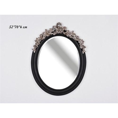 Lucky Art Gümüş İşlemeli Siyah Ayna - Sq 047