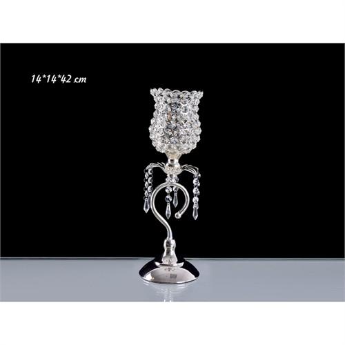 Lucky Art Gümüş Kristalli Lale Tilaytlık - Me013