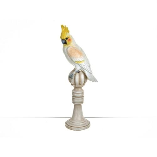 Lucky Art Renkli Kuş Biblo - 33 Cm