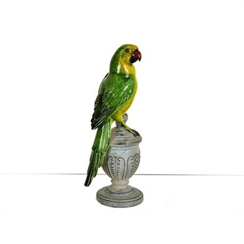 Lucky Art Renkli Kuş Biblo - 20 Cm