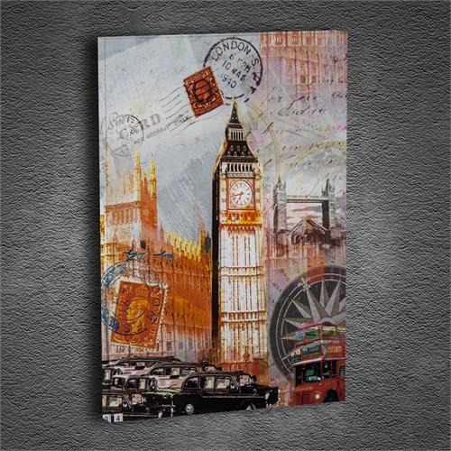 Artmoda - Kabartmalı Londra Tablo