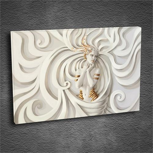 Artmoda - Kabartmalı White Woman Tablo