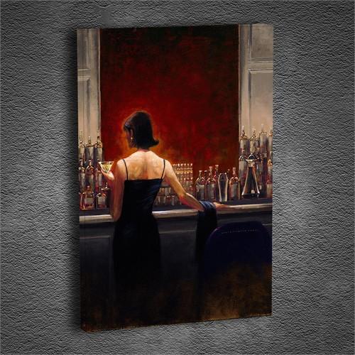Artmoda - Kabartmalı Red Hall Woman Tablo