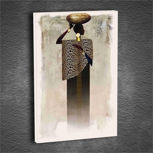 Artmoda - Kabartmalı Afrikalı Kadın Tablo