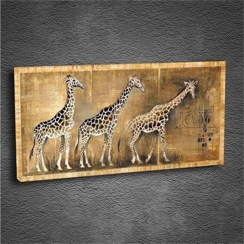 Artmoda - Kabartmalı Zürafa Tablo